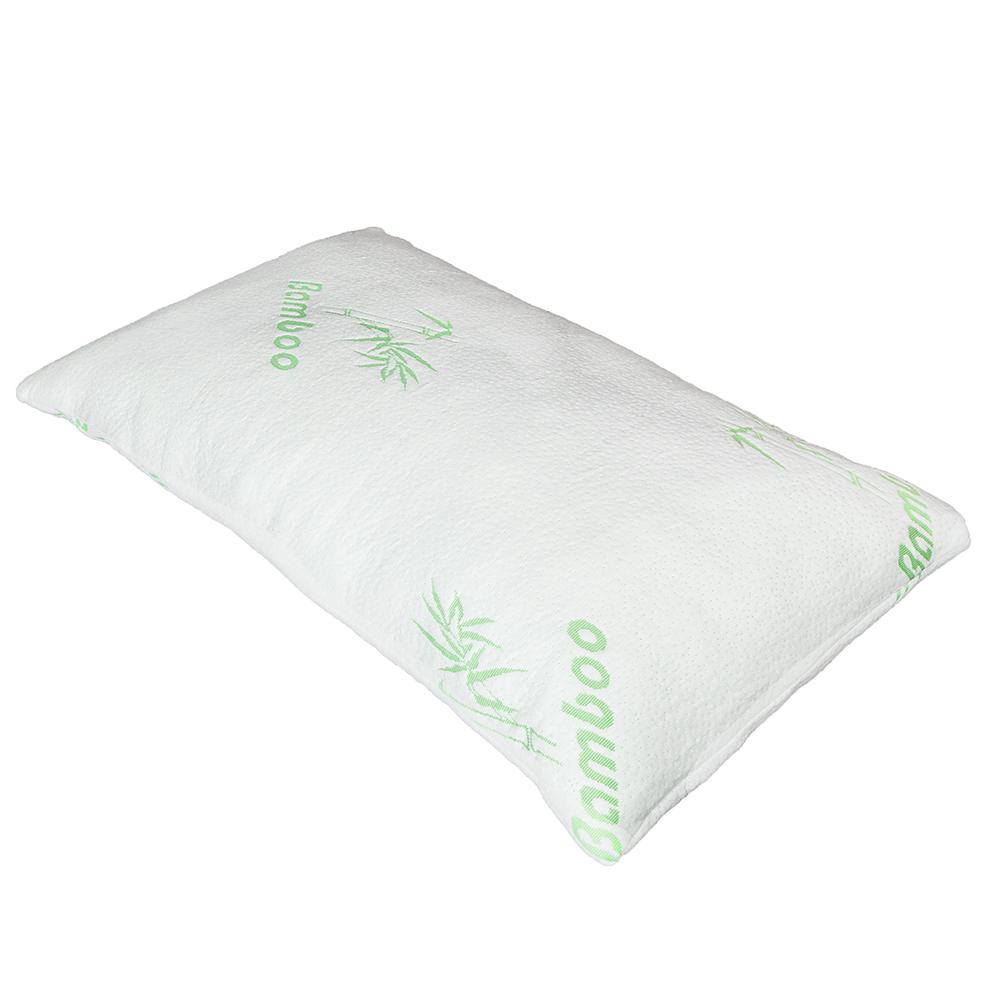 Bamboo Memory Foam Bed Pillow Queen Size Hypoallergenic