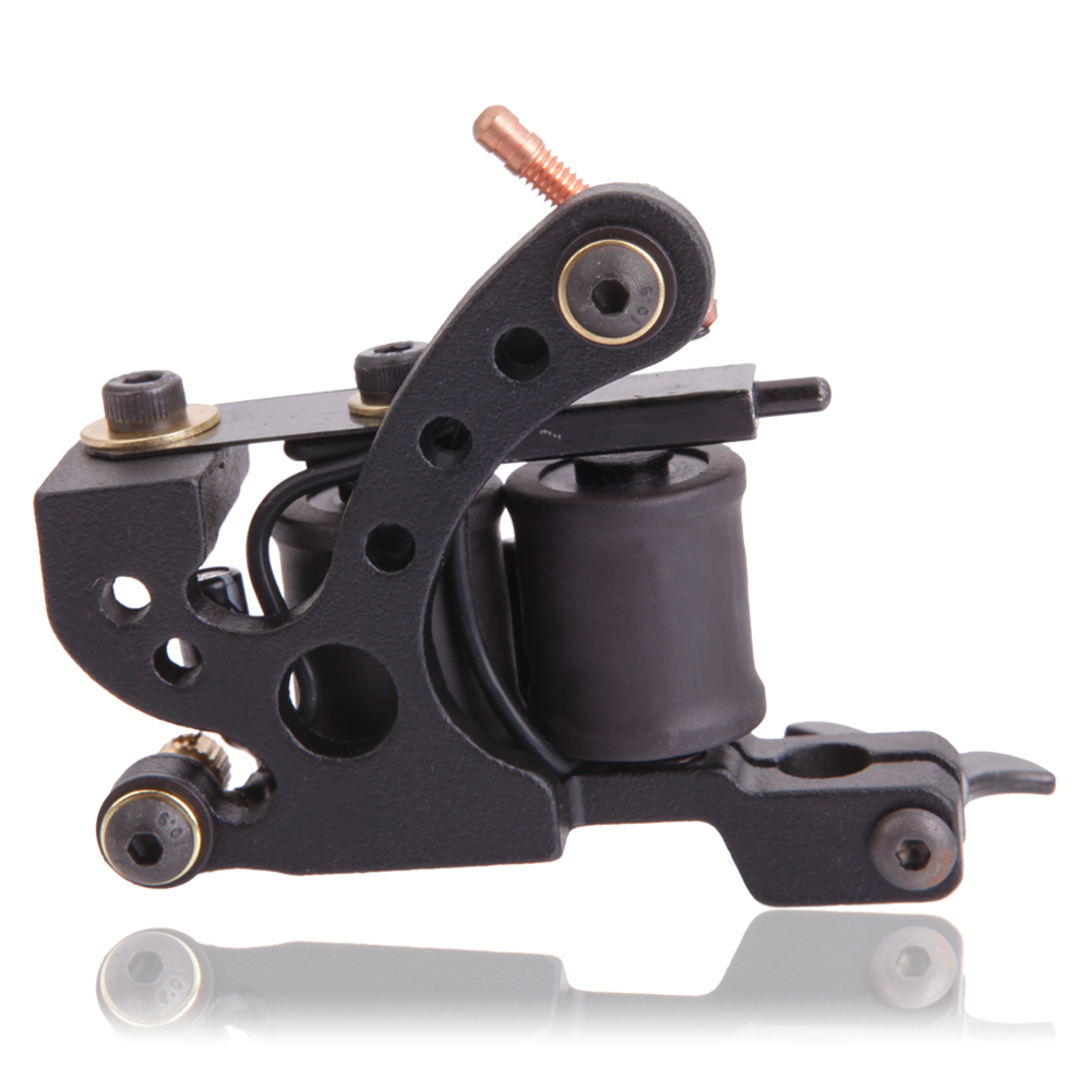 New 8 style casting 10 wraps coils tattoo machine gun for Tattoo machine coil covers