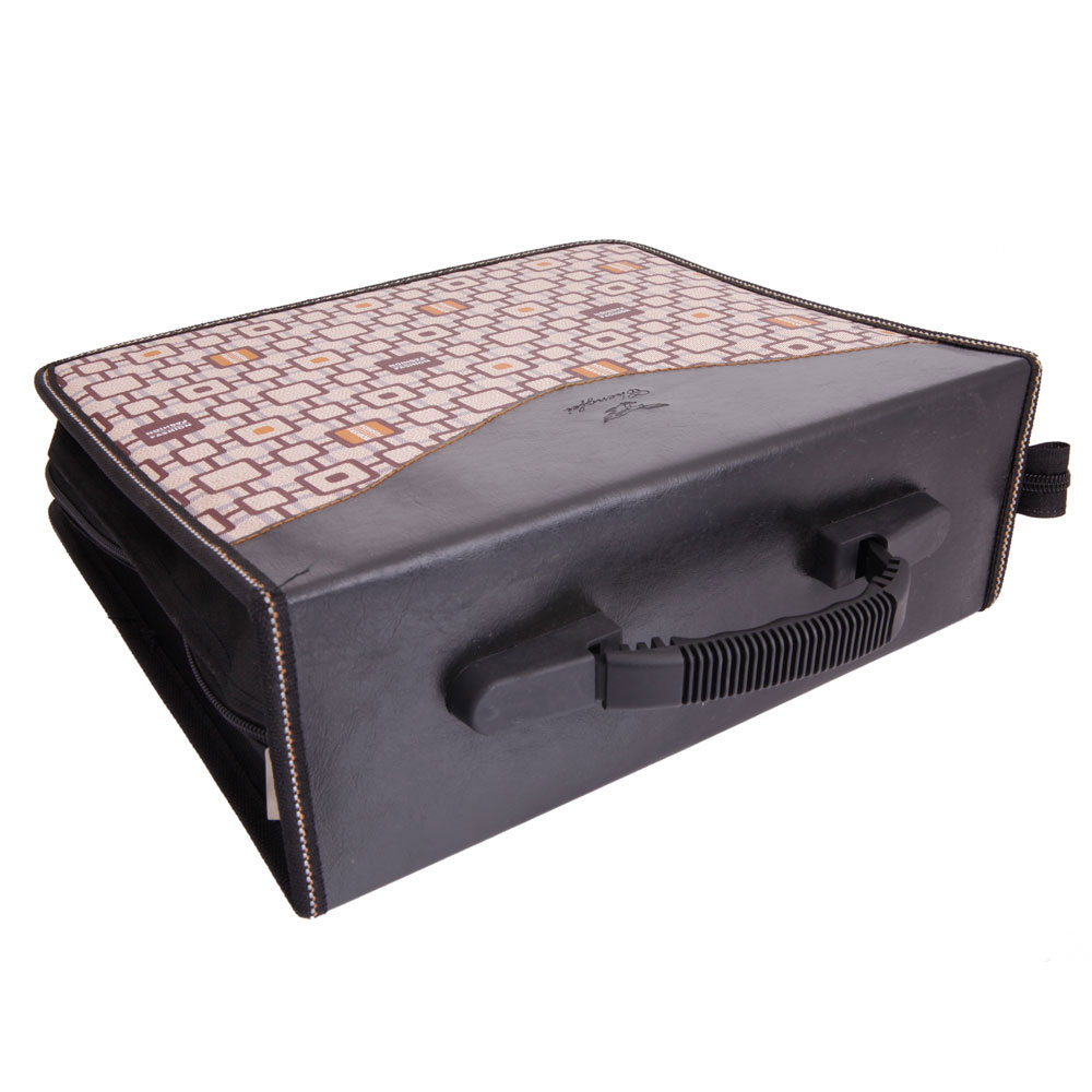 520 disc cd dvd check pattern storage bag organizer holder case khaki black ebay - Dvd case holder shelf ...