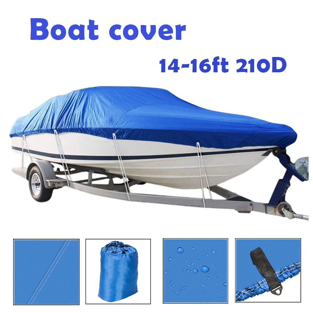 Heavy Duty Oxford Fabric Waterproof Boat Cover Fits V Hull