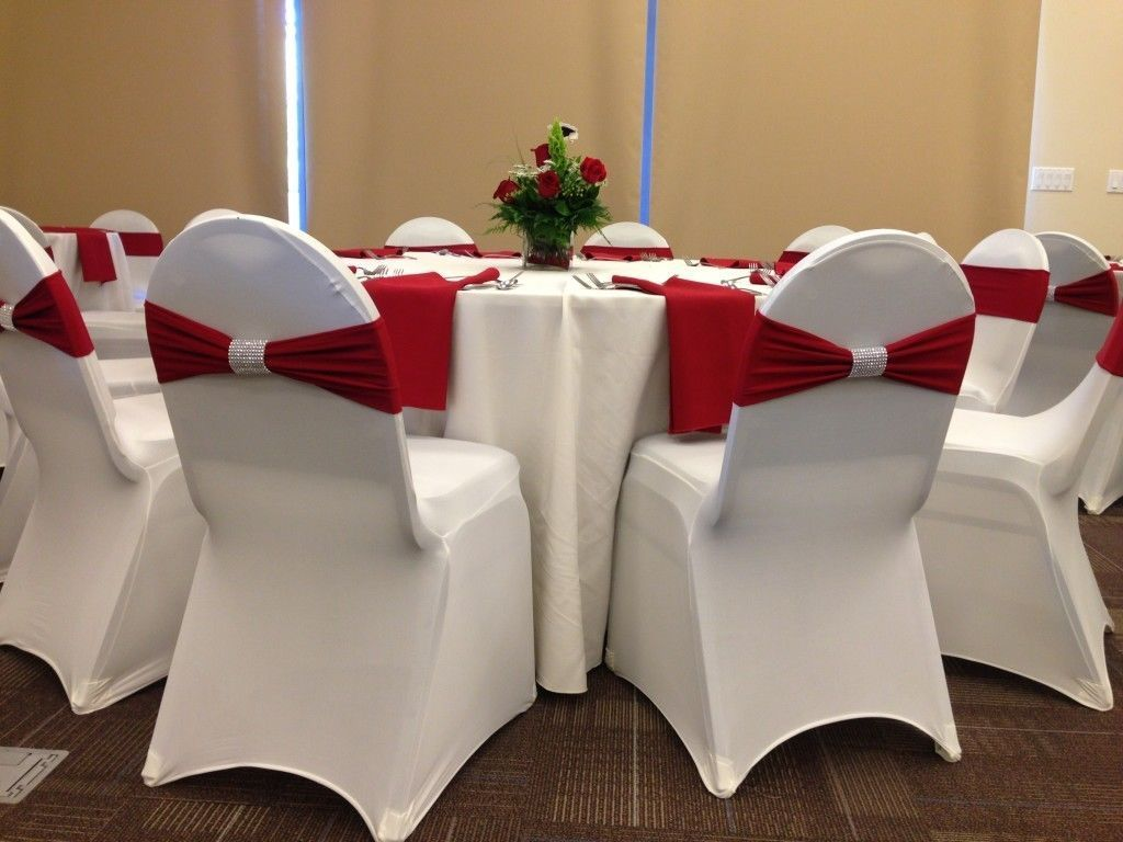 Polyester Spandex Chair Cover Arched Flat Front Covers