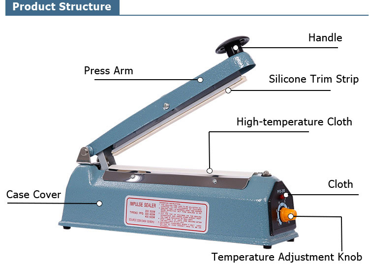 8 Quot Heat Sealing Machine Impulse Sealer Seal Machine Poly