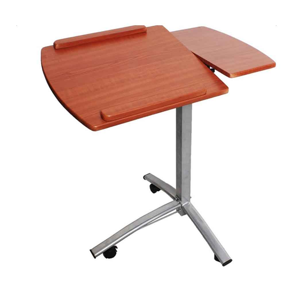 Laptop Rolling Desk Adjustable Tilt Stand Portable Caster