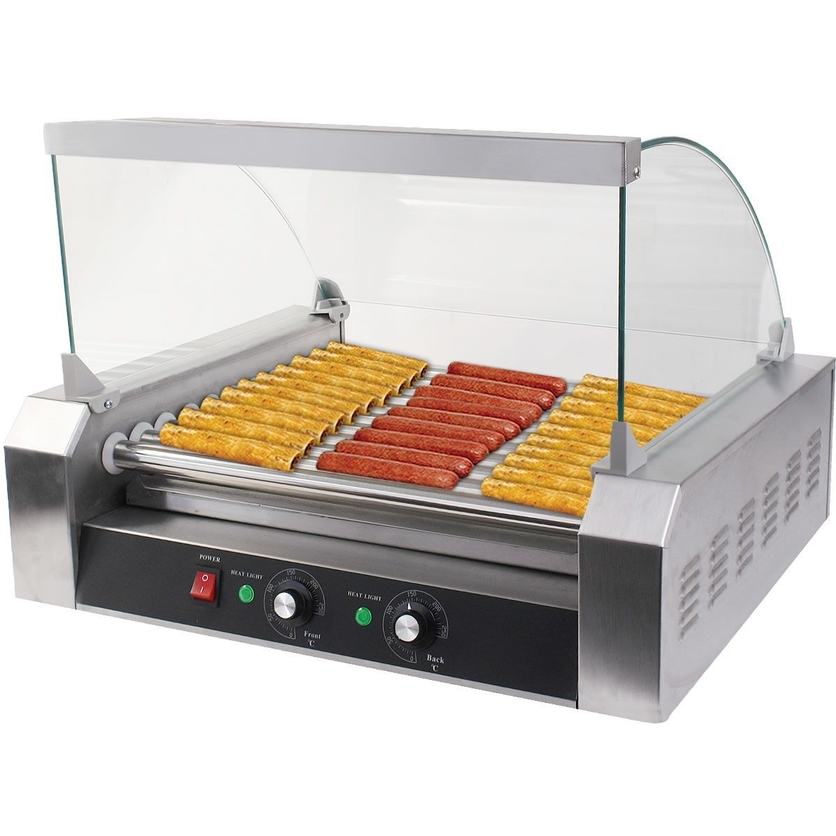 Uncategorized Hot Dog Cookers Specialty Kitchen Appliances electric hot dog grill commercial hotdog maker warmer cooker grilling machine