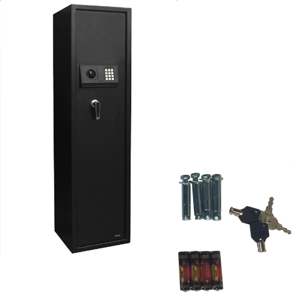 new large 5 rifle digital gun safe electronic lock storage steel cabinet firearm ebay. Black Bedroom Furniture Sets. Home Design Ideas