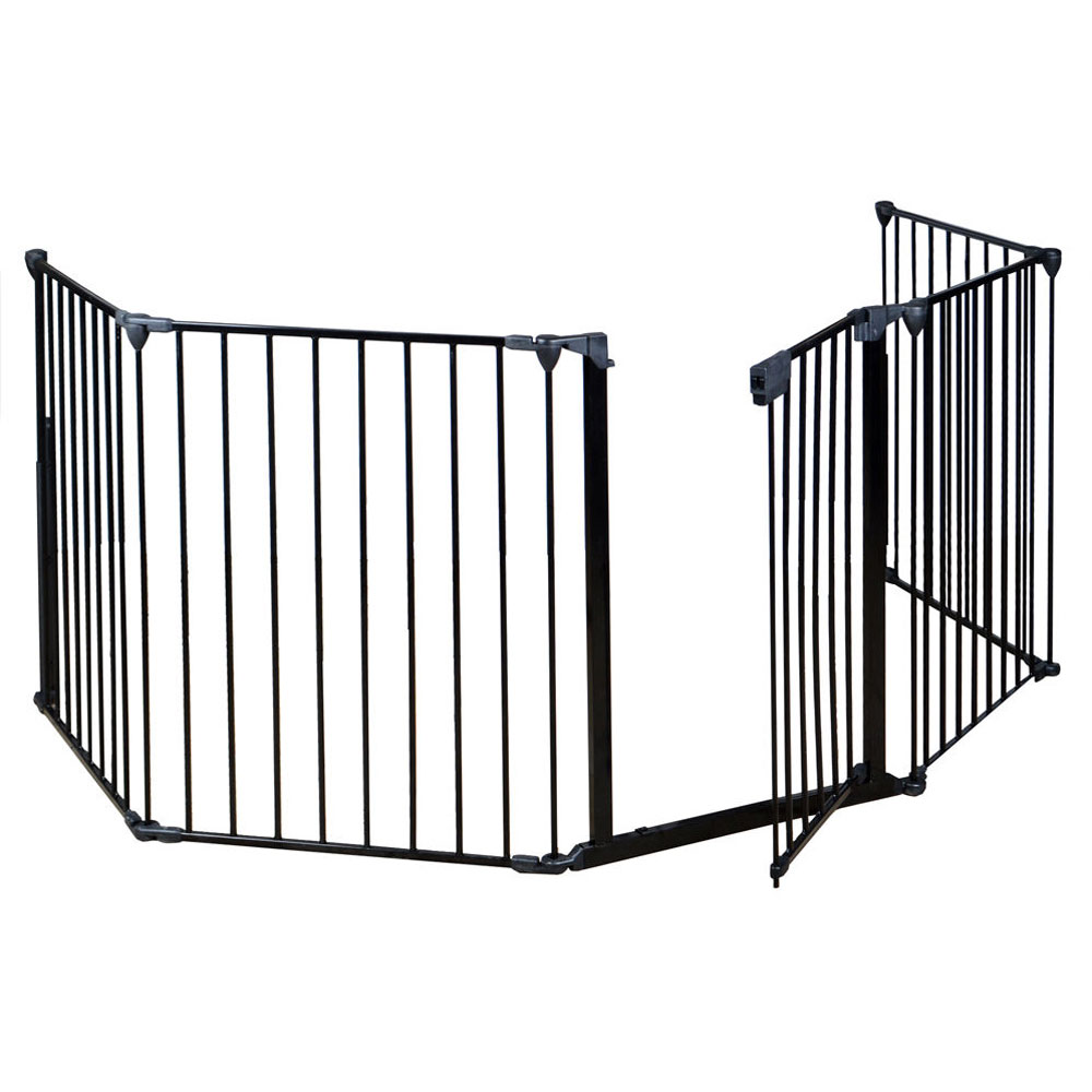 Baby safety gate door extra wide metal walk thru pet dog