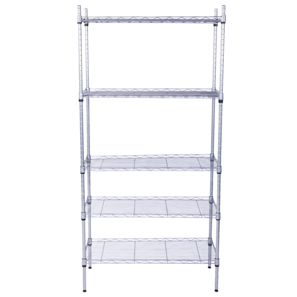5 Layer Garage Wire Metal Shelving Unit Commercial HeavyDuty Storage ...