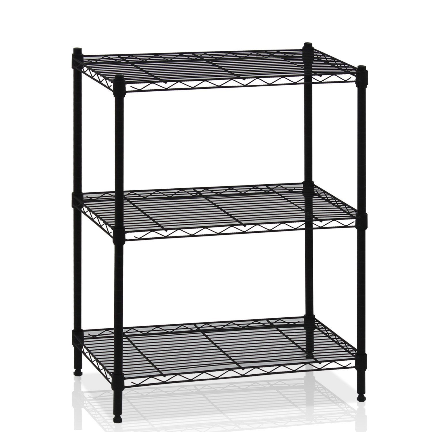 Kitchen Shelf Metal: 3 Tier Wire Shelving Rack Shelf Unit Garage Kitchen