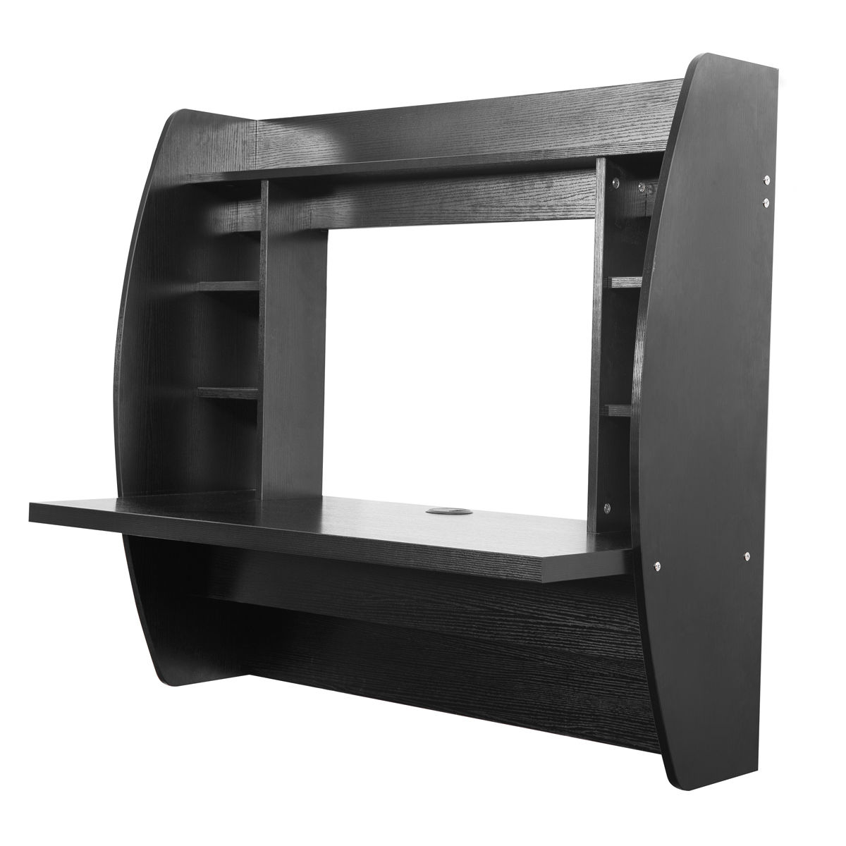Wall Mount Floating Desk Storage Shelf Home Computer Desk