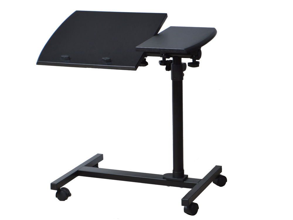Laptop Desk Angle Height Adjustable Rolling Notebook Sofa