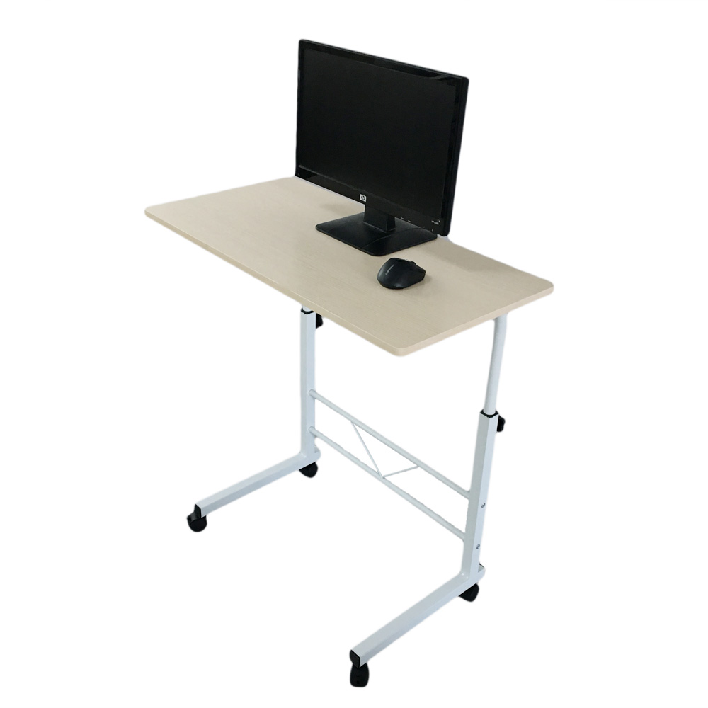 Protable Laptop Table Rolling Computer Desk Stand Sofa Side Bed Tray  Removable