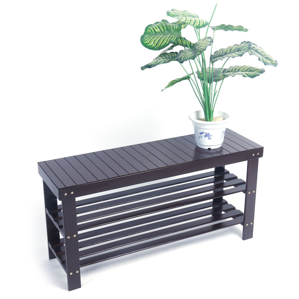 Details About Solid Wooden Shoe Bench Storage Racks Seat Organizer Entryway Hallway Coffee New