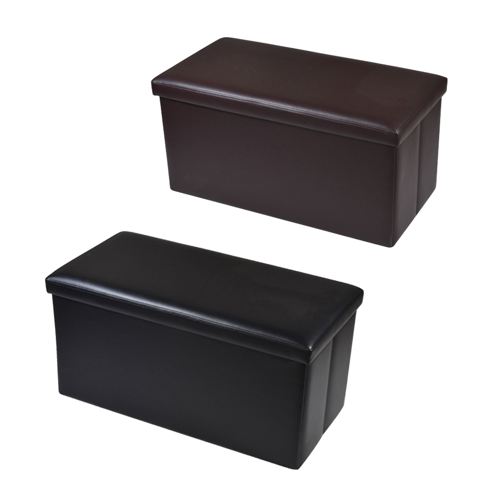 Phenomenal Details About 30 Inch Storage Bench Ottoman Chest Folding Foot Rest Faux Leather Footstool Andrewgaddart Wooden Chair Designs For Living Room Andrewgaddartcom