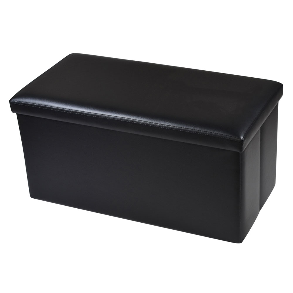 Fine Details About Black Leather Storage Ottoman Bench Footstool Organizer Box Seat Rectangle Decor Gamerscity Chair Design For Home Gamerscityorg