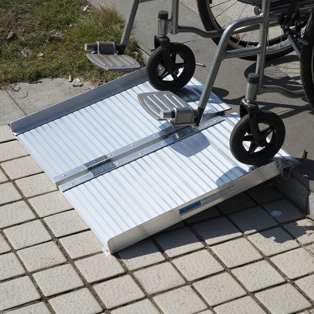 2 4 5 6 8 10 Aluminum Fold Portable Wheelchair Ramp