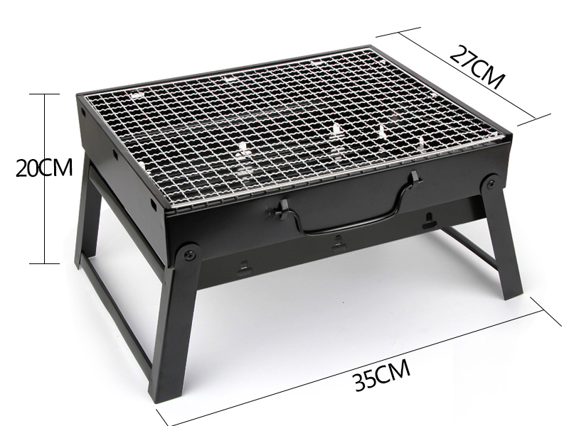 tabletop portable charcoal grill outdoor folding barbecue. Black Bedroom Furniture Sets. Home Design Ideas