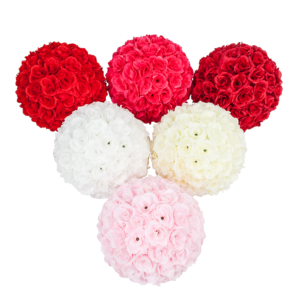Beautiful Flower Ball 25cm 984 Rose With Silk Bridal Kissing