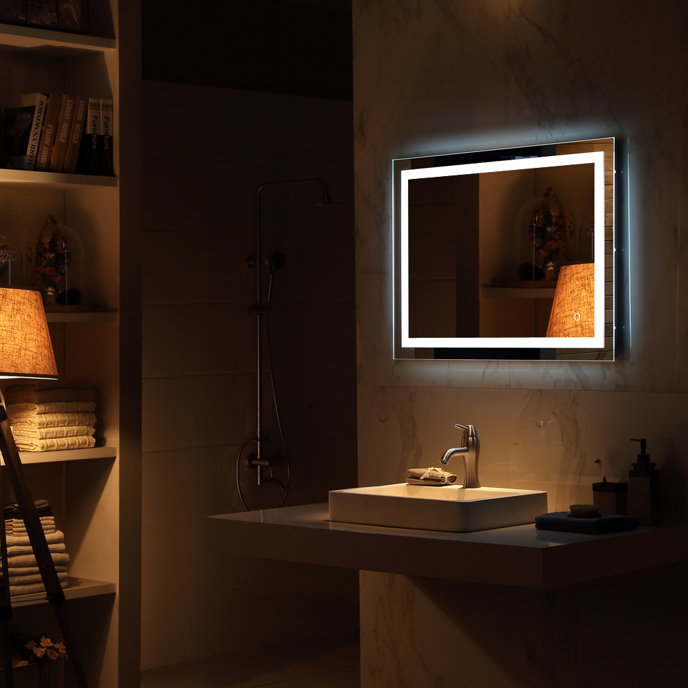 Led mirror light bathroom mirror backlit wall mounuted makeup touch led mirror light bathroom mirror backlit wall mounuted makeup touch button us aloadofball Gallery