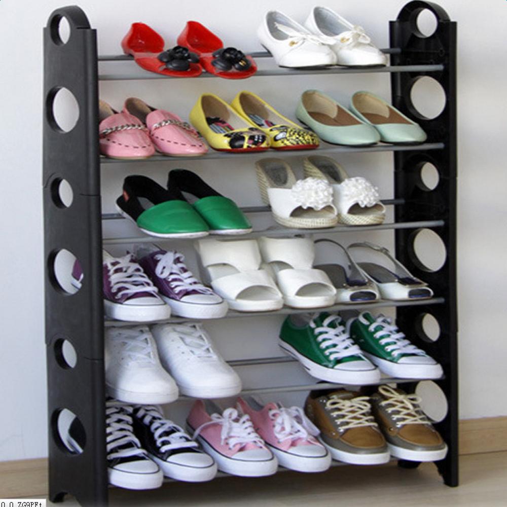 10 Tier Shoe Rack 30 50 Pair Home Wall Shelf Closet