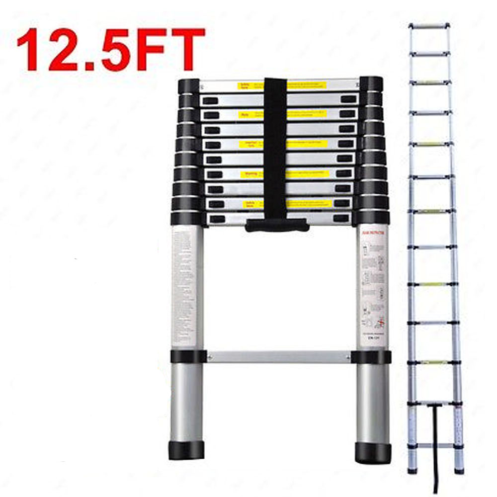 12 5 Extension Telescoping Aluminum Ladder : New ft multi purpose aluminum telescoping telescopic