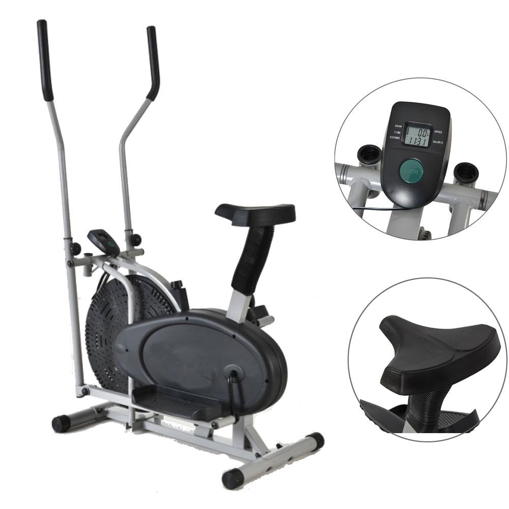 Elliptical Bike Types: Indoor Elliptical Machine Trainer 2 In 1 Exercise Bike