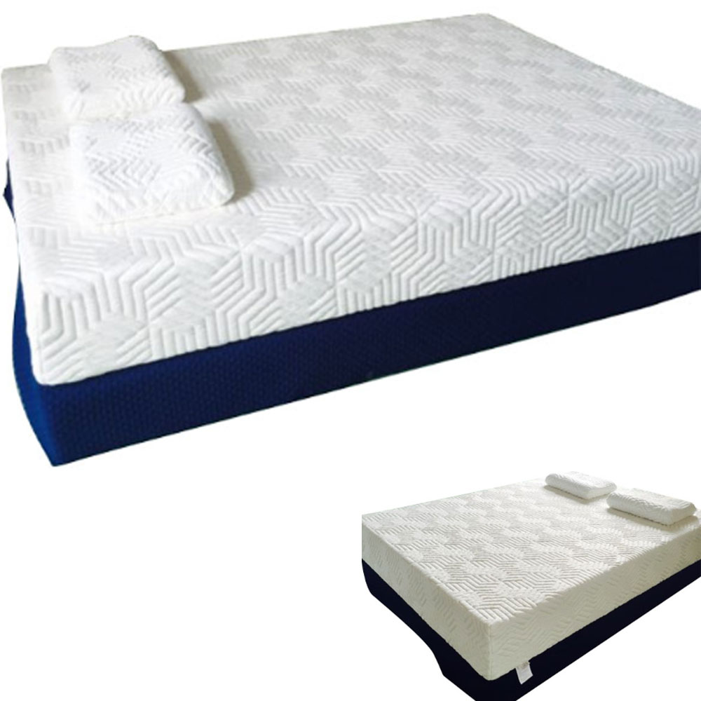 new 10 inch queen traditional firm gel memory foam mattress bed with 2 pillows ebay. Black Bedroom Furniture Sets. Home Design Ideas