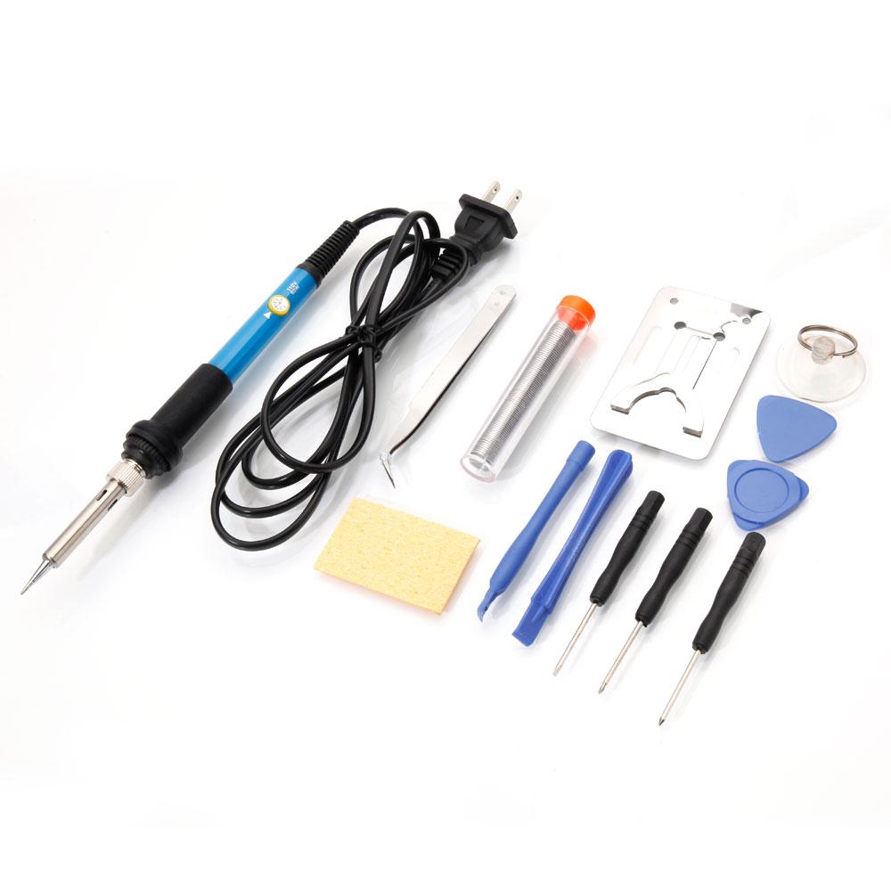 diy electric solder starter tool kit iron stand desolder pump thermal control ebay. Black Bedroom Furniture Sets. Home Design Ideas