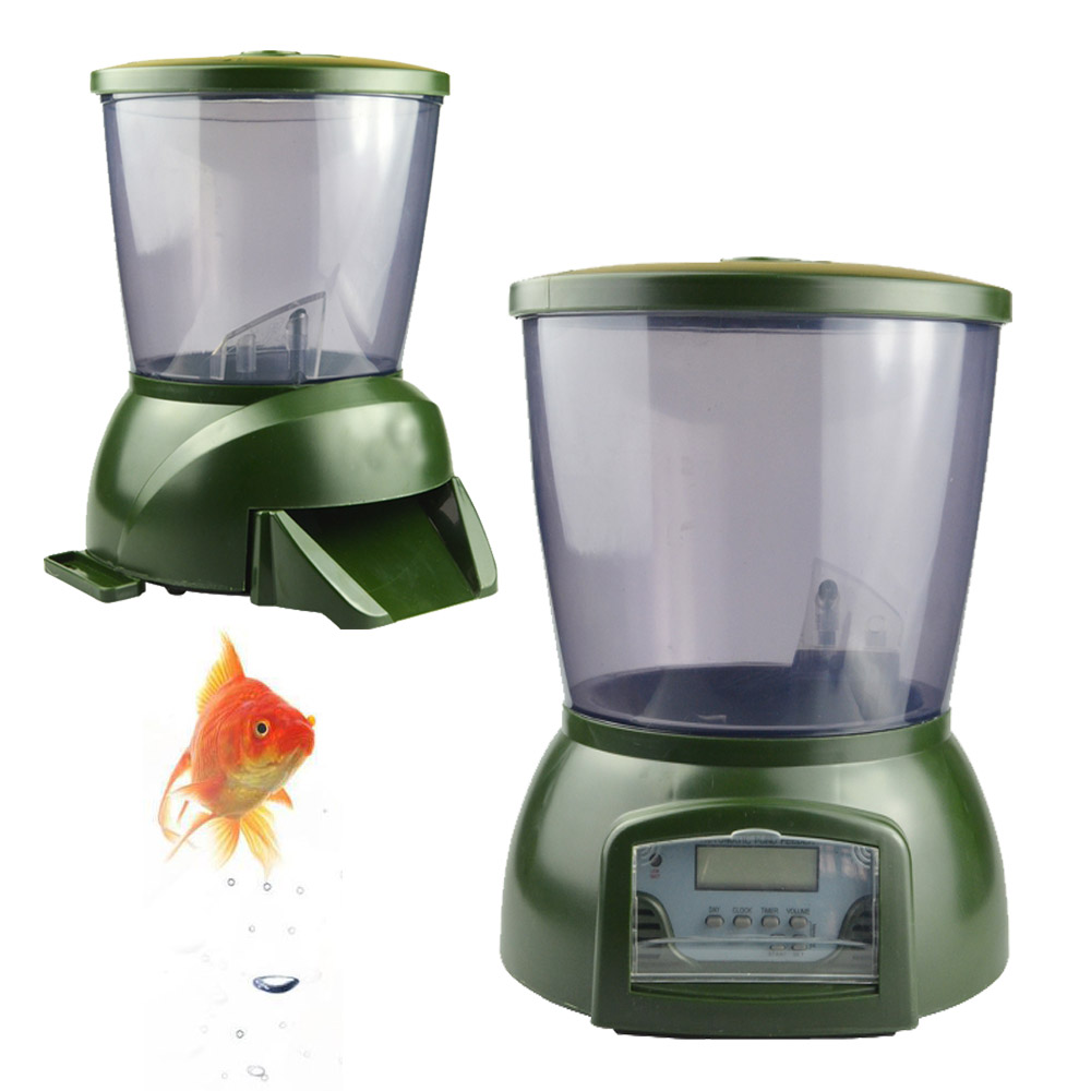 Automatic pond fish feeder digital tank pond fish for Automatic pond fish feeder