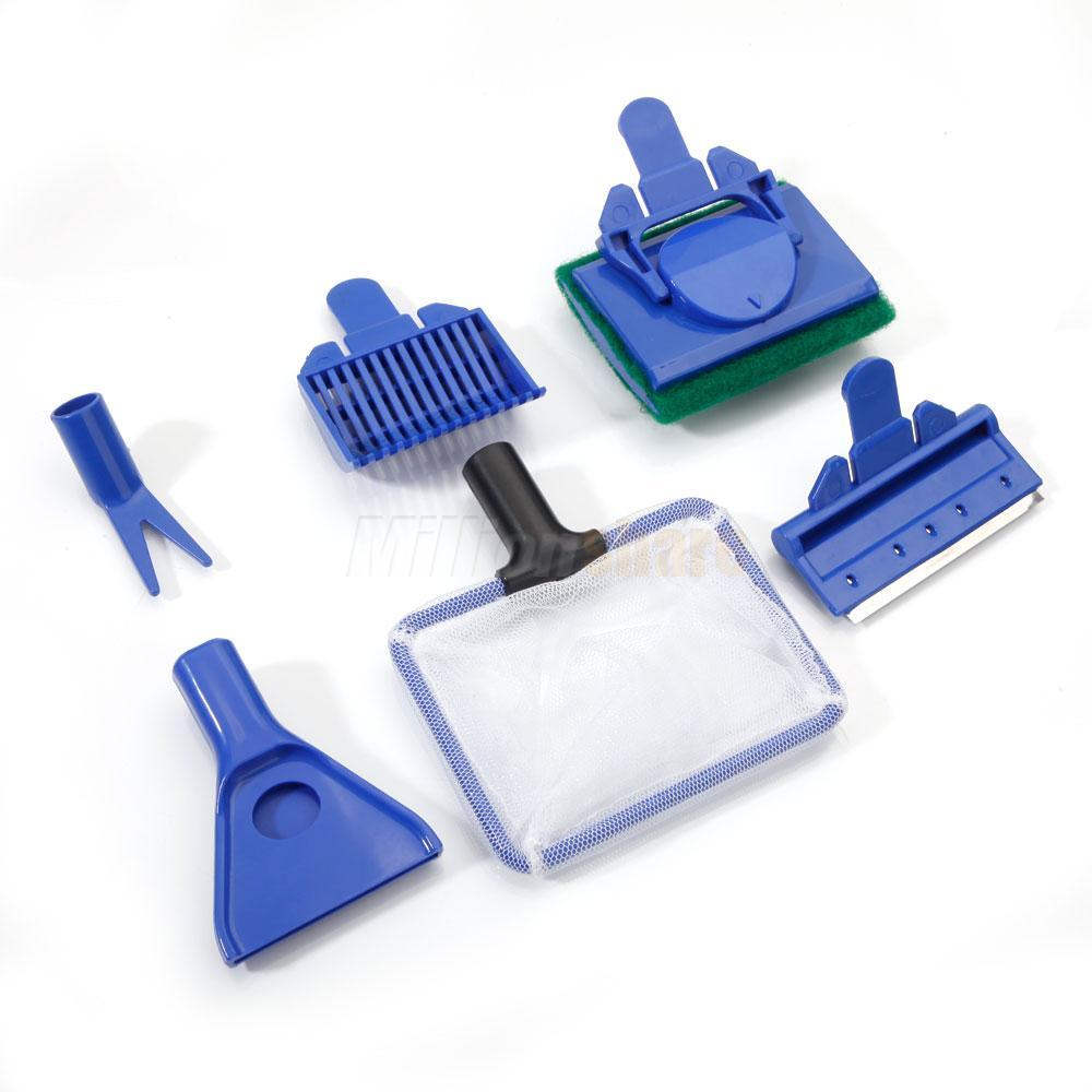 5 in 1 fish tank aquarium cleaning set brush gravel rake for Fish cleaning tools