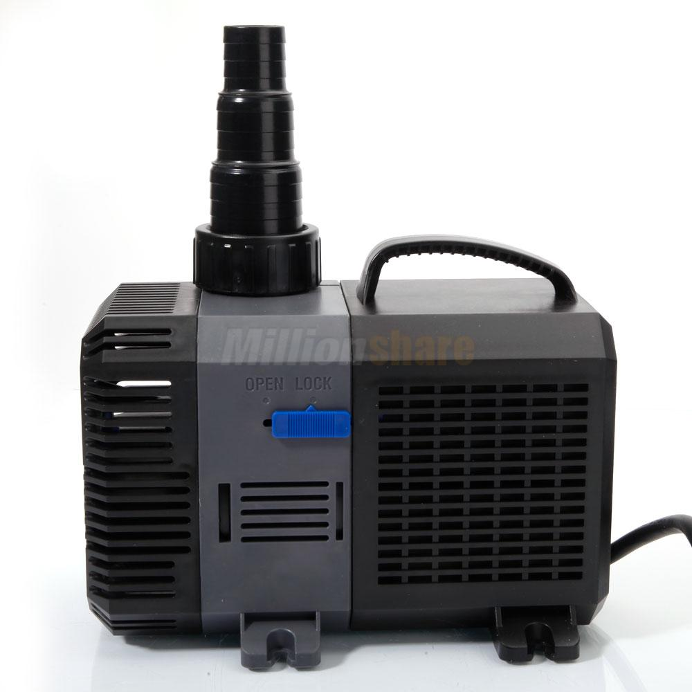 3170 4227gph submersible inline water filter pump aquarium for Submersible pond pump with filter