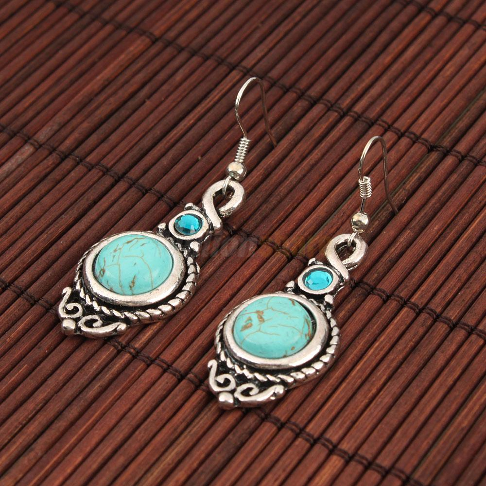 6 Etl Business Requirements Specification Template Reyri: Vintage Tibetan Silver Green Turquoise Round Dangle Women