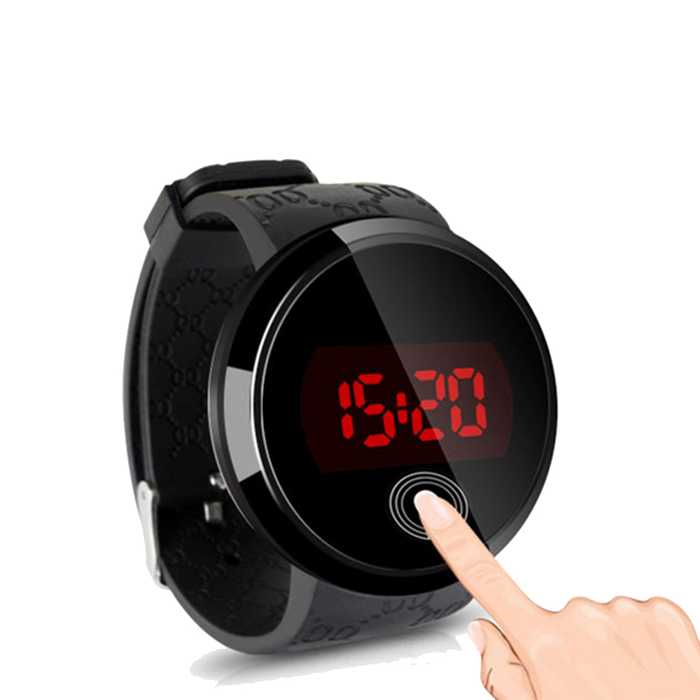 s led touch screen sport silicone waterproof