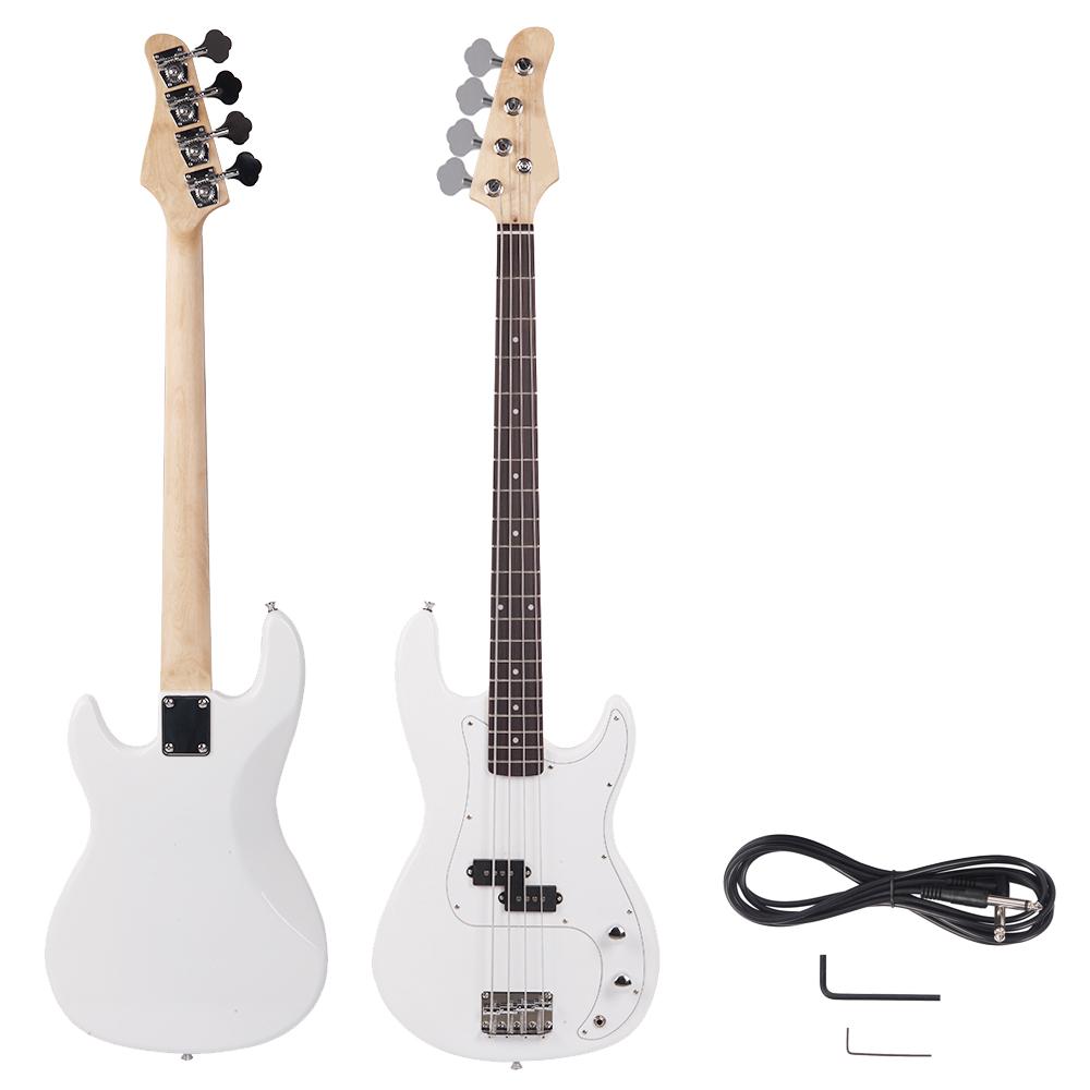 Electric Guitar String Band : new white beginner band 4 string electric bass guitar musical instruments ebay ~ Russianpoet.info Haus und Dekorationen
