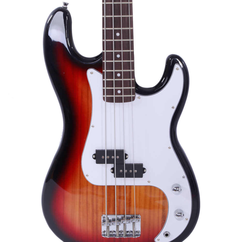 sunset beginner band 4 string burning fire electric bass guitar ebay. Black Bedroom Furniture Sets. Home Design Ideas