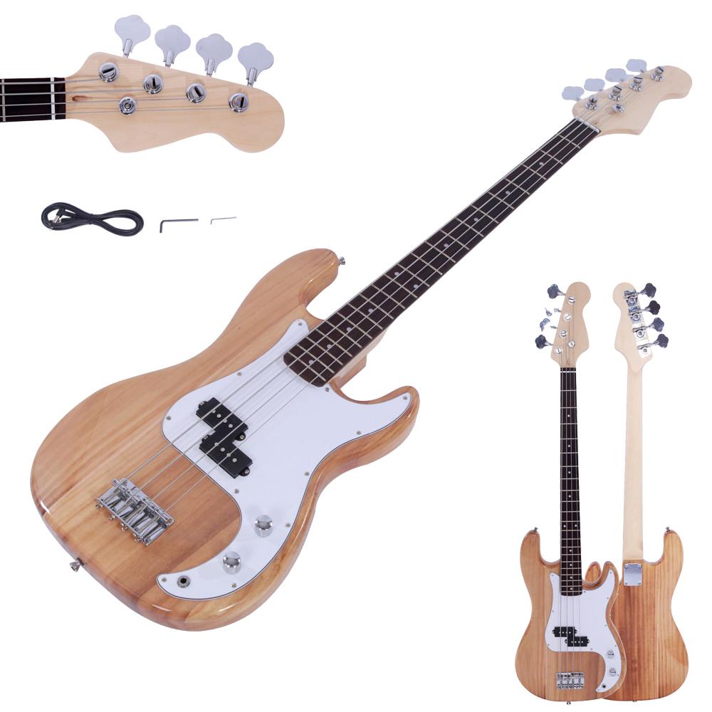 natural wood color beginner band 4 strings burning fire electric bass guitar ebay. Black Bedroom Furniture Sets. Home Design Ideas