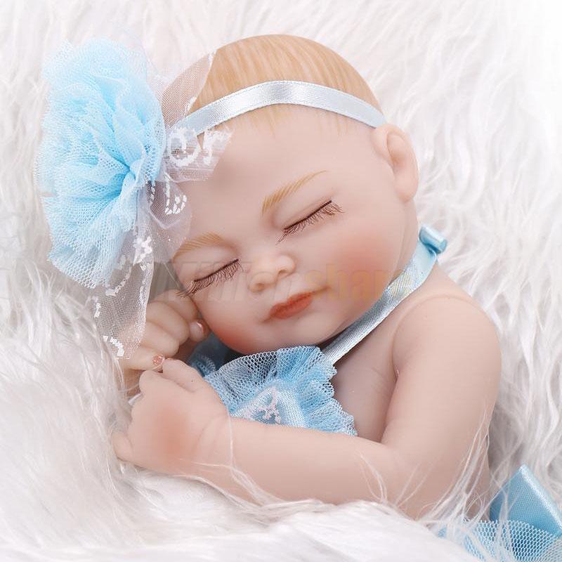 11 Quot Handmade Lifelike Baby Girl Doll Silicone Vinyl Reborn