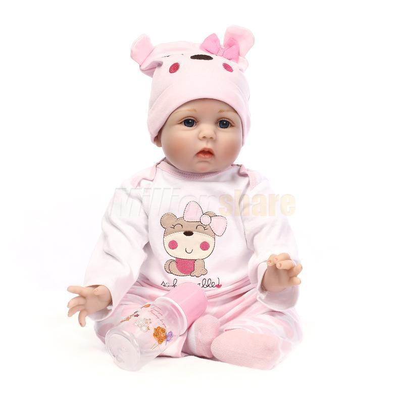 22 Lifelike Baby Newborn Silicone Vinyl Reborn Doll Gift