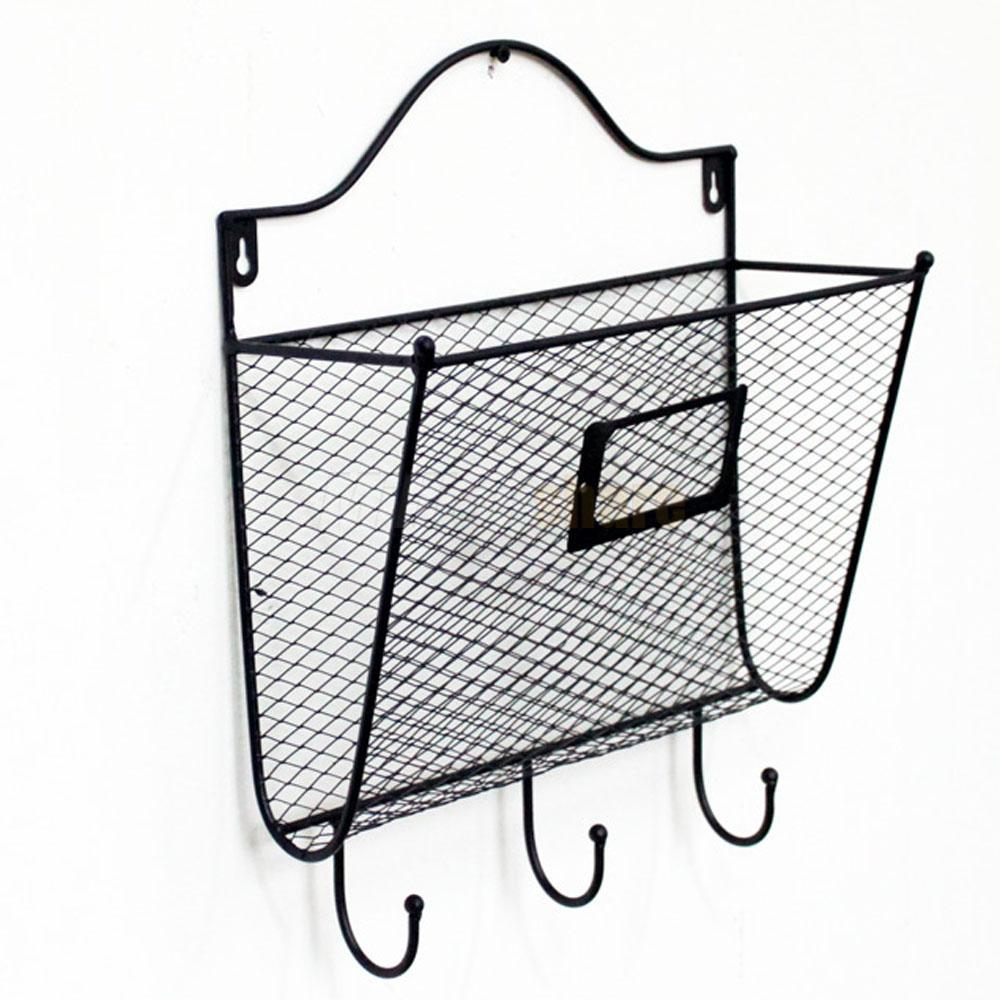 wall mount mail organizer letter office key holder rack