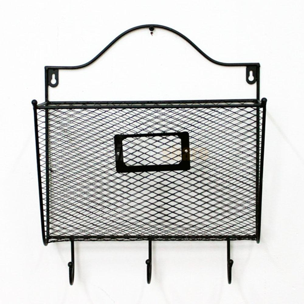 wall mount mail organizer letter office key holder rack metal creative storage ebay. Black Bedroom Furniture Sets. Home Design Ideas