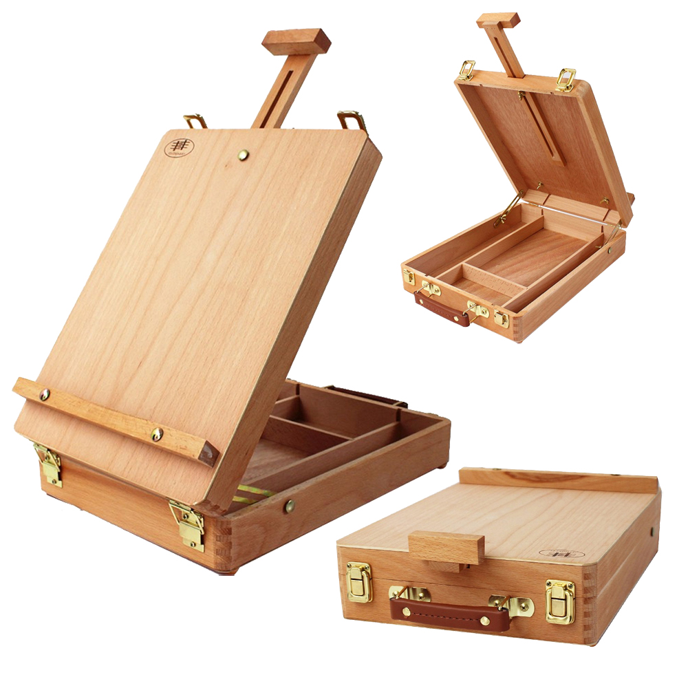 art drawing desktop table easel wooden sketch box