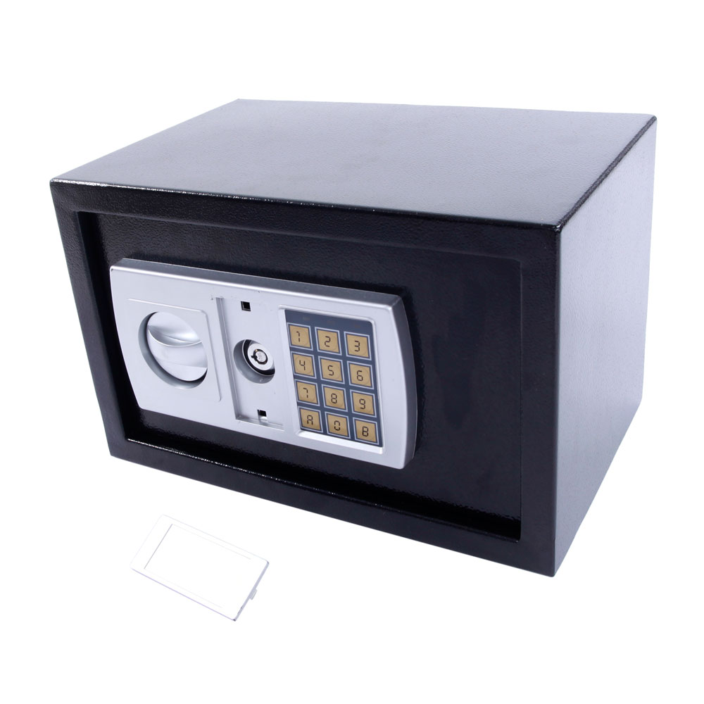 12 5 stark electronic digital lock keypad black safe box cash jewelry gun safe ebay. Black Bedroom Furniture Sets. Home Design Ideas