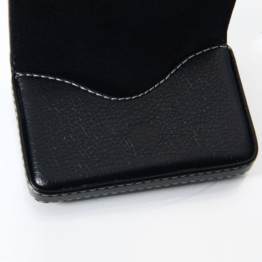 New Leather Business Name Credit ID Card Holder Wallet