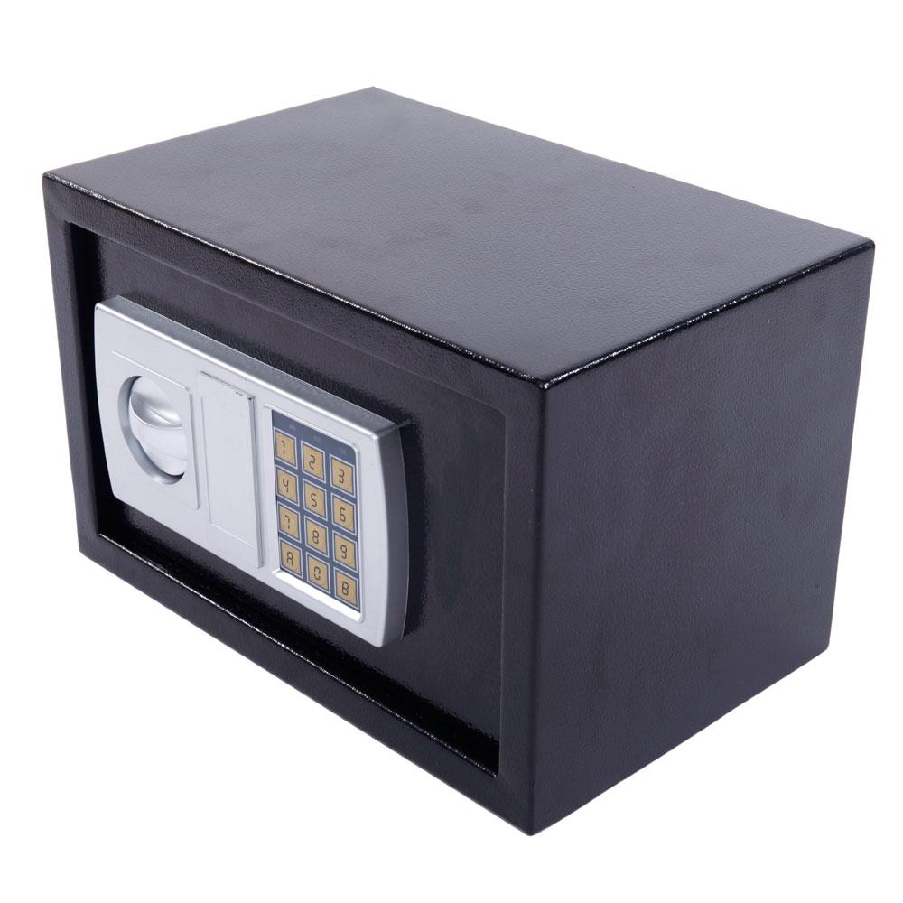 12 5 stark electronic digital lock keypad black safe box. Black Bedroom Furniture Sets. Home Design Ideas