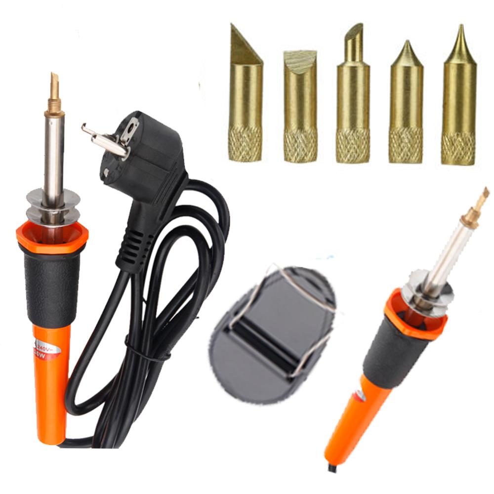 7pcs hobby crafts wood electric soldering iron pen kit with bits holder 220 240v ebay. Black Bedroom Furniture Sets. Home Design Ideas
