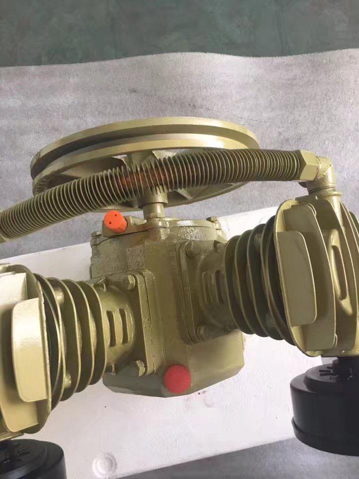 5hp twin cylinder air compressor pump dual 2 piston v for Air compressor pump and motor