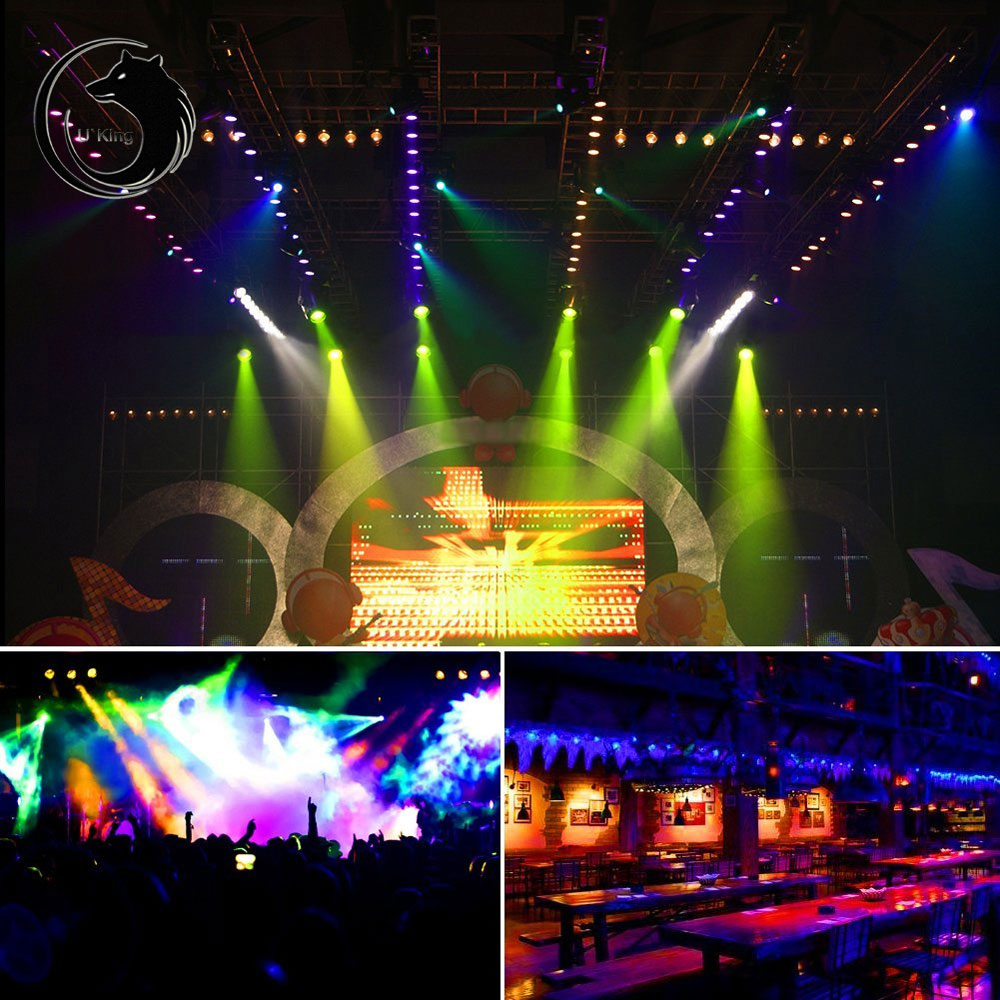 U`King 36W LED RGB Stage Lighting Strobe DMX-512 DJ Projector Party Light ZQ-B53   eBay