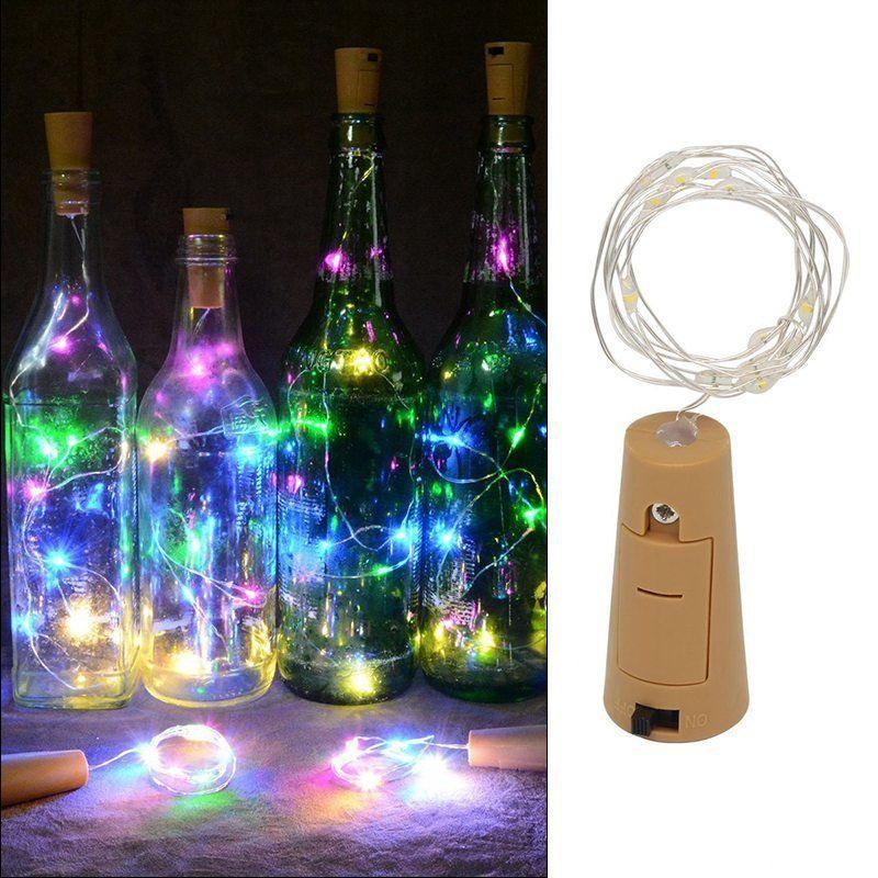 20 LED Cork Shape String Fairy Night Light Wine Bottle Lamp for Party w/Battery