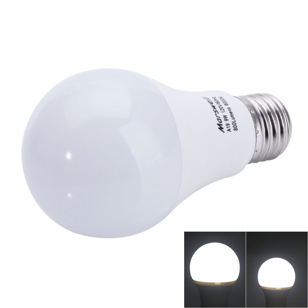 60 watt e27 a19 a60 led light bulb cool white 6000 6500k 12 pack 60w ebay. Black Bedroom Furniture Sets. Home Design Ideas
