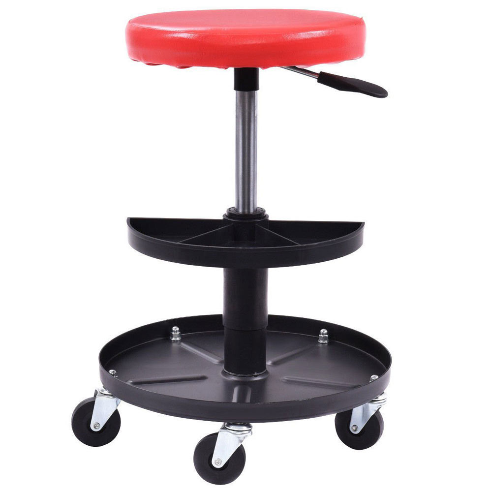 Adjustable Mechanic Creeper Rolling Seat Stool Repair
