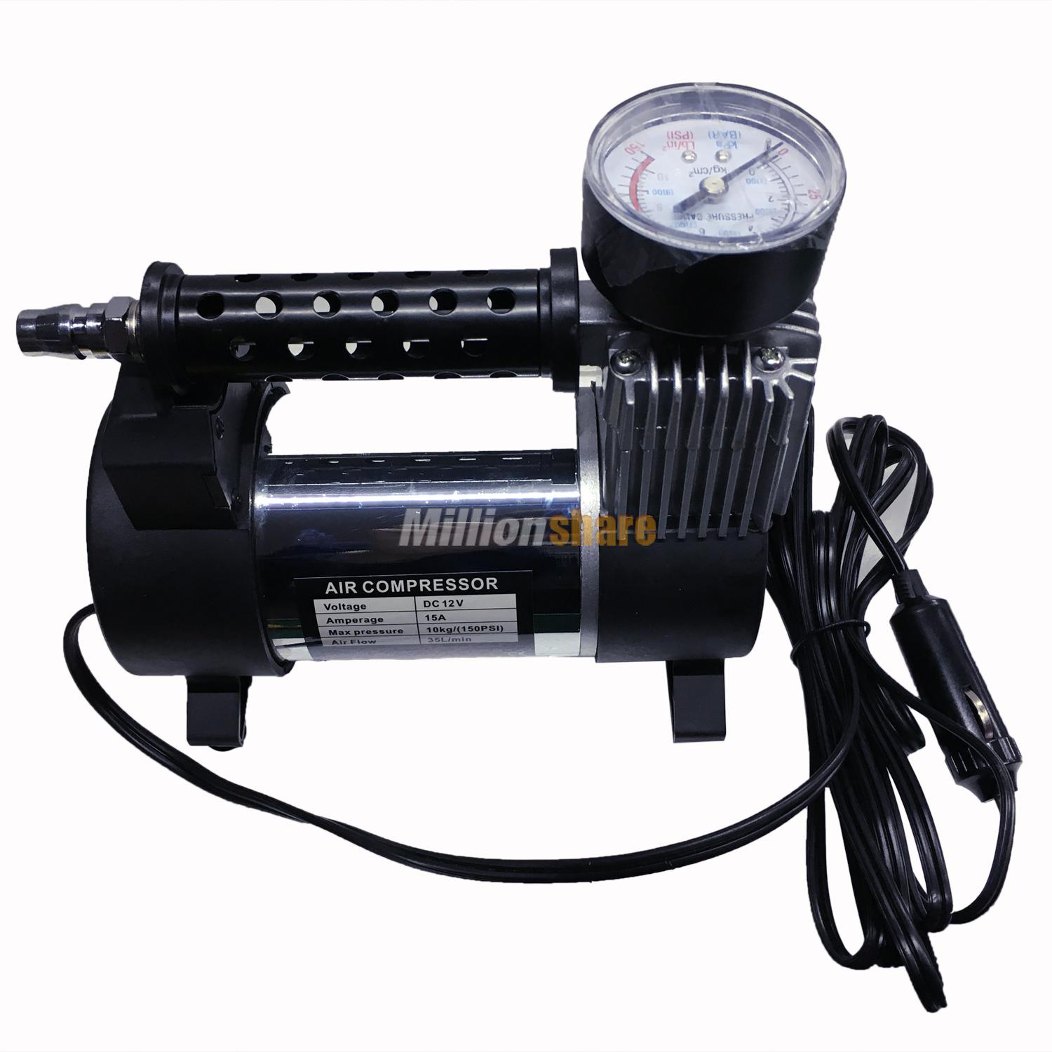 metal 12v 150 psi car van tyre air compressor inflator pump heavy duty ebay. Black Bedroom Furniture Sets. Home Design Ideas